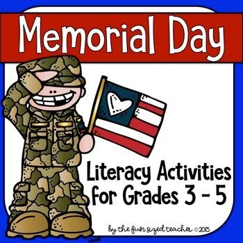 Here is everything you need for your students to learn about Memorial Day! Completely updated for 2017! Included in this print and go, no prep product are two reading comprehension passages with questions, Memorial Day related vocabulary and phonics activities, 8 writing prompt task cards, themed writing