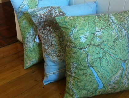 NZ Map Cushion Covers of New Zealand places