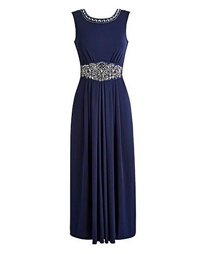 JOANNA HOPE Jewel Trim Maxi Dress | Oxendales