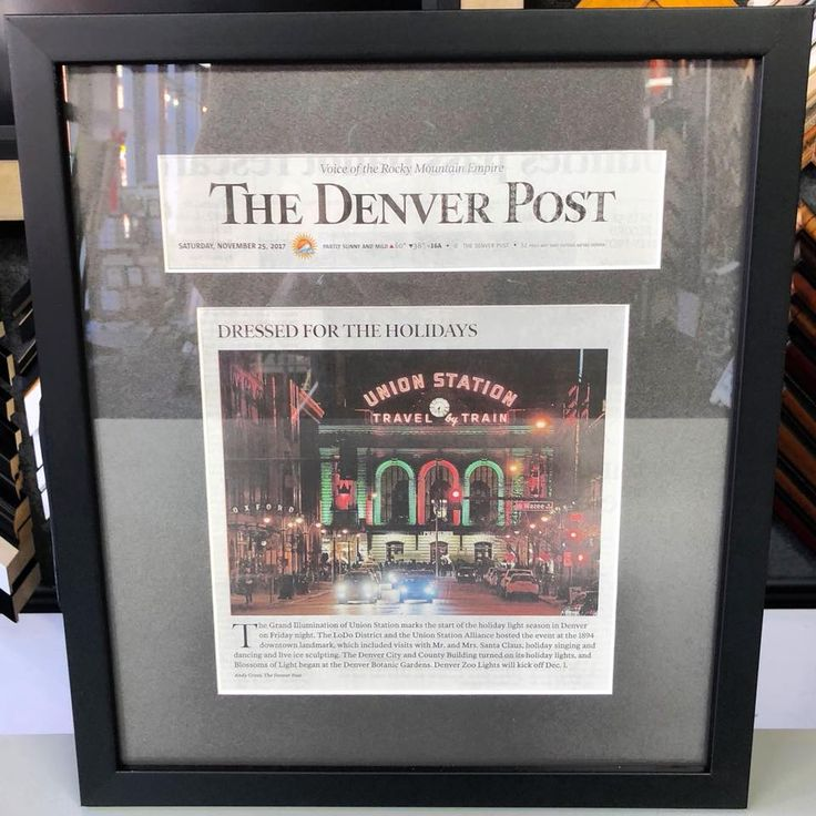 We're honored to frame this The Denver Post article on the Grand Illumination of Denver's Union Station for LoDo District! #art #pictureframing #customframing #denver #colorado #denverpost #denverunionstation #grandillumination #lododistrict