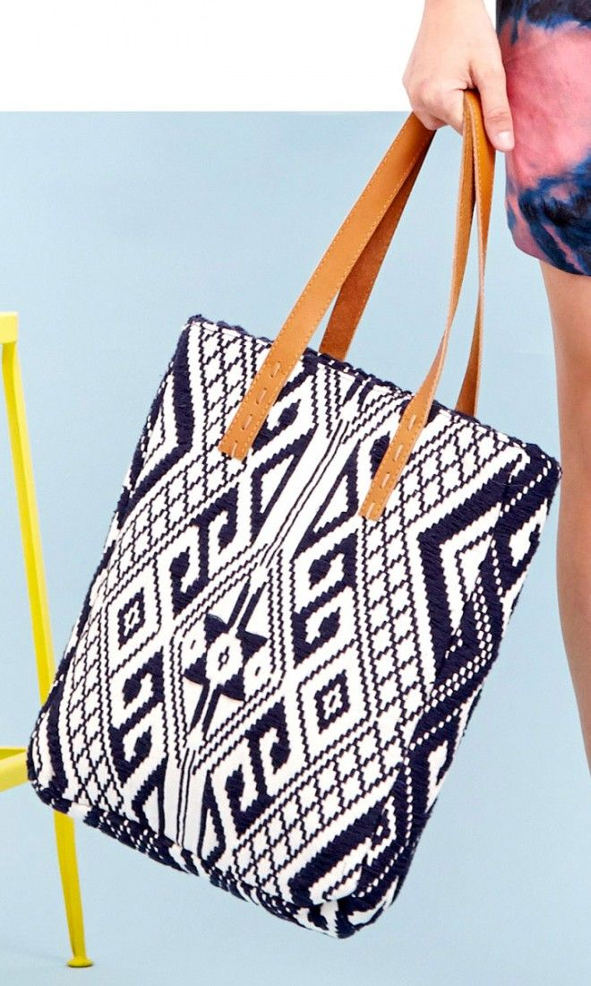 Tribal printed tote