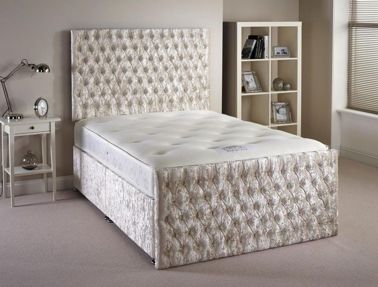 small-double-bed-for-small-bedroom-and-mattress-white-silver