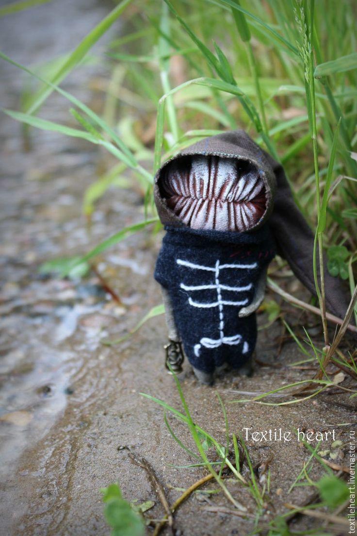 Купить Оно... - комбинированный, существо, Страшные игрушки, страшные куклы, скелет, тряпичная кукла, монстрик