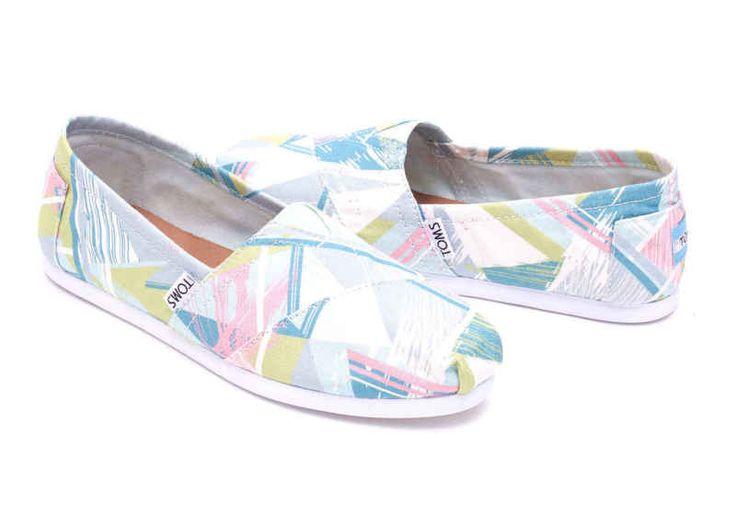 TOMS PASTEL MULTI CANVAS TRIANGLES WOMEN'S CLASSICS SHOES. Style # 10008021 #canvas #china #flats #geometric #mediumbm #pastelmulti #toms https://ispastel.com/slug/toms-pastel-multi-canvas-triangles-womens-classics-shoes-style-10008021