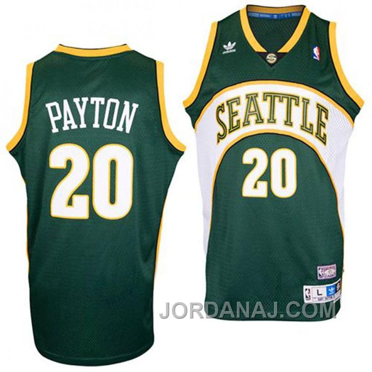 NWT Gary Payton SEATTLE SUPER SONICS RARE Red JERSEY;  httpwww.jordanaj.comgary-payton-seattle-supersonics-20-soul-
