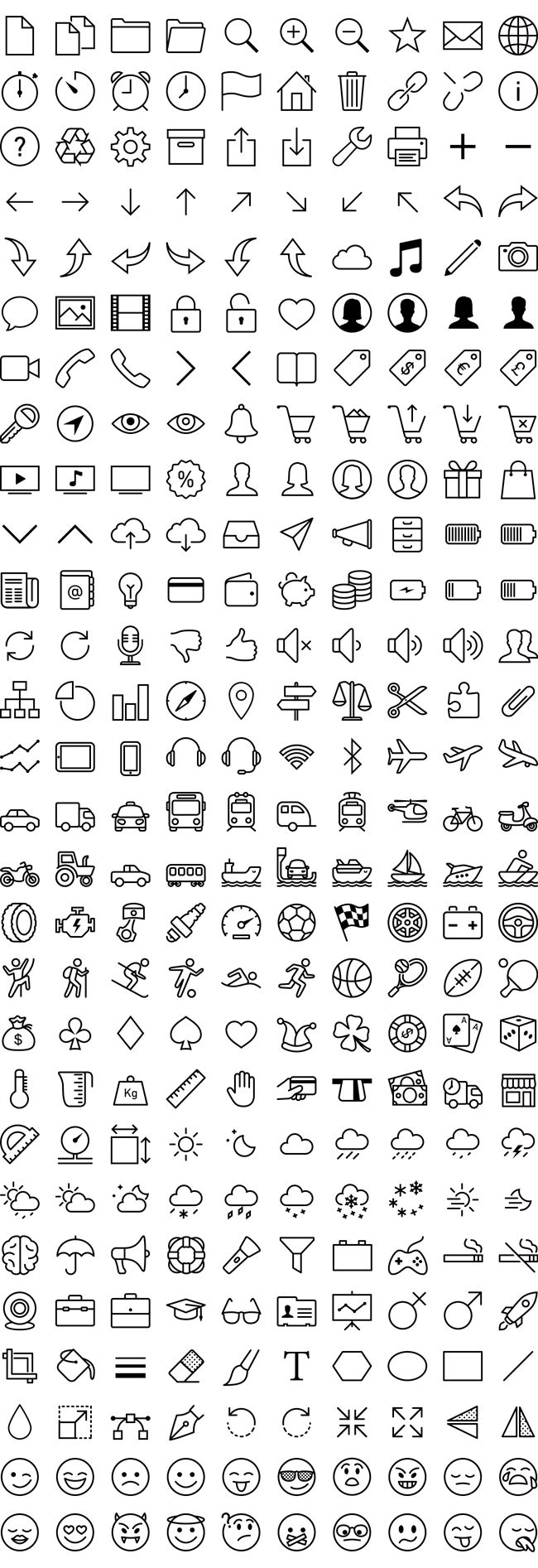 280 Free iOS7 Icons Vector Pack - Free Vector Site | Download Free Vector Art, Graphics                                                                                                                                                                                 Mais