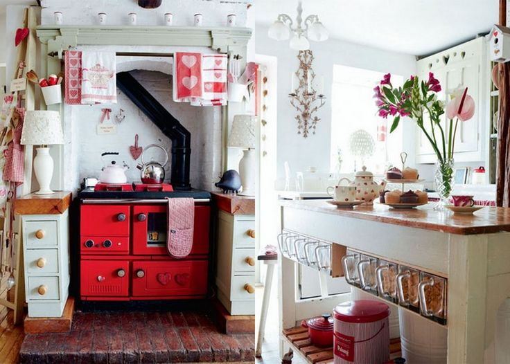 Red Vintage Stove Country Kitchen   The Sweetest Occasion Part 72