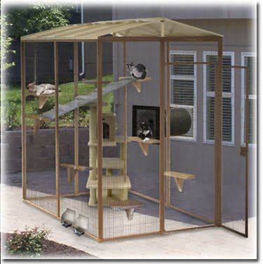 Outside Cat Enclosures | ... outdoor spaces for your cat where to find cat fences runs cat fence in