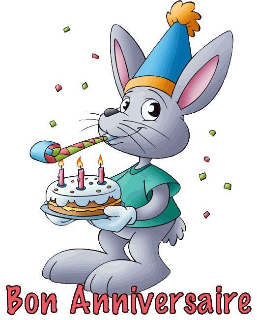Bon Anniversaire #anniversaire bon anniversaire gateau fete lapin confettis