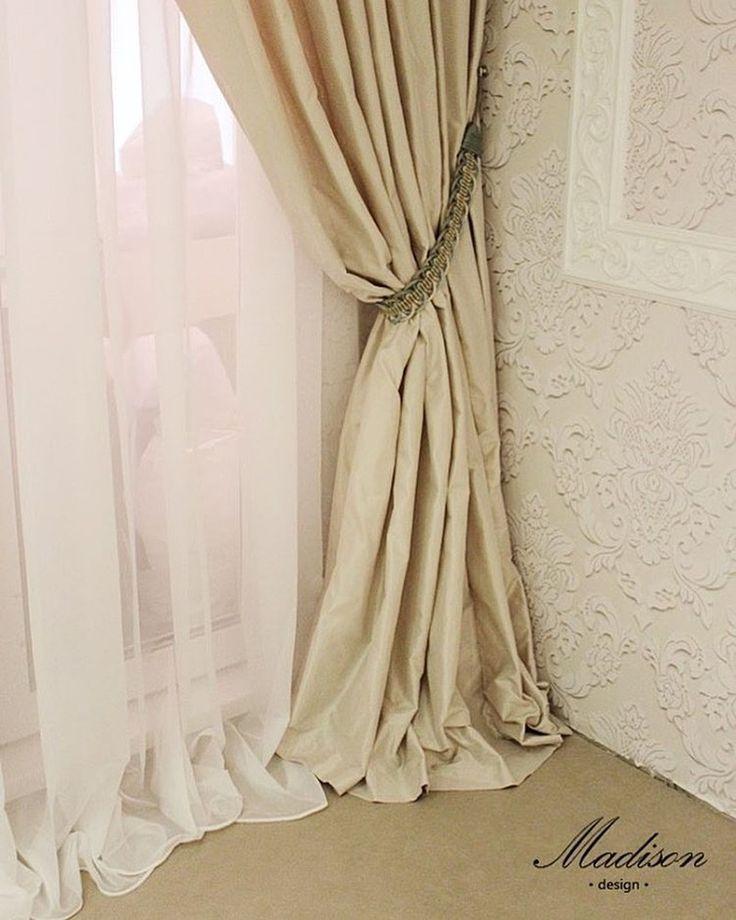красота в деталях, дизайн @madison_textile #тафта Lustre #Galleria_Arben со склада в Москве #ткани #шторы #декорокна