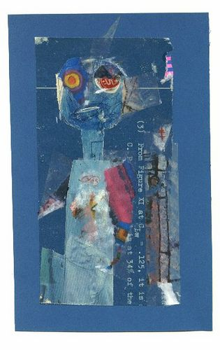 jacqui wegren - collage. blue girl
