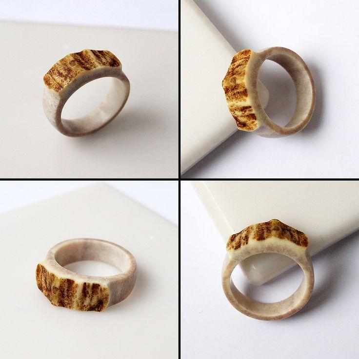 deer antler ring size 105 us httpifttt - Make Your Own Wedding Ring