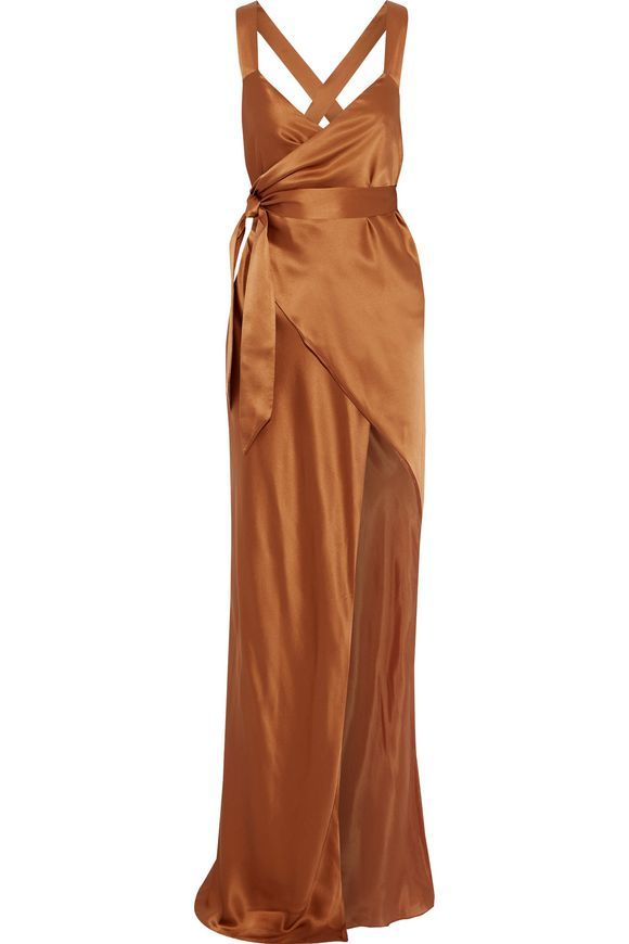 c6ec0fc392 Silk-charmeuse maxi wrap dress | MICHELLE MASON | Sale up to 70% off | THE  OUTNET