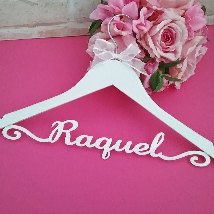 Personalised Gifts Ideas Glamorous Name Coat Hanger Deluxe