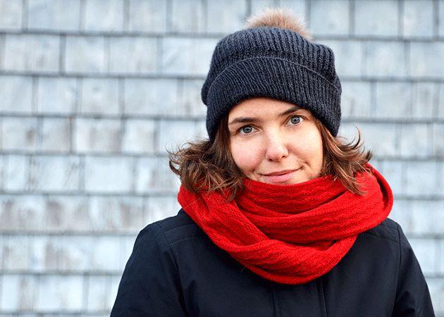 Foulard infini rouge par Rien ne se perd, tout se crée... www.rienneseperd.com