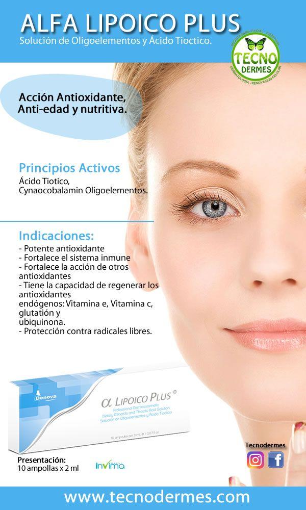 Alfa Lipoico Plus Sistema Inmune Antiedad Vitamina E
