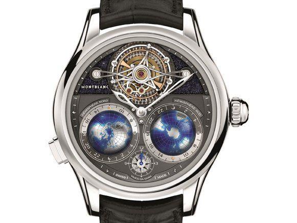 Luxus pur von Montblanc: die Villeret Tourbillon Cylindrique Geosphères NightSky Limited Edition für 275.000 Euro.