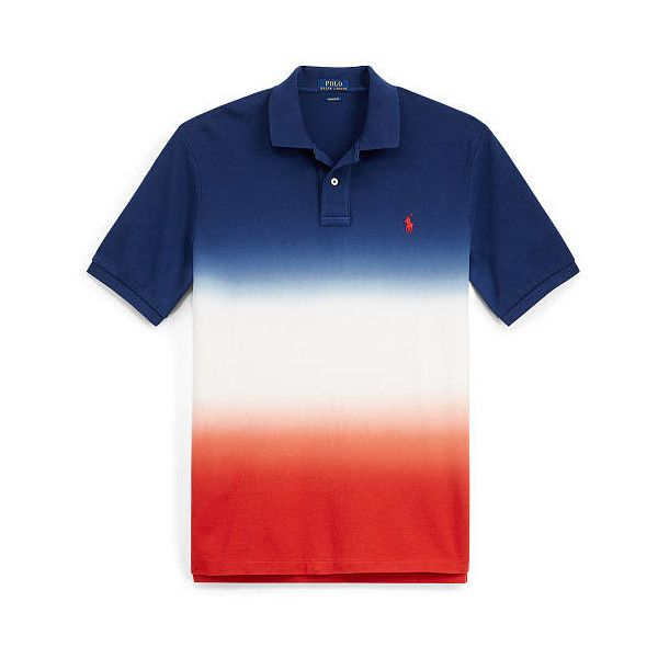 Ralph Lauren Big & Tall Classic Fit Cotton Mesh Polo ($125) ❤ liked on Polyvore featuring men's fashion, men's clothing, men's shirts, men's polos, mens cotton shirts, mens ribbed t shirt, mens polo collar shirts, polo ralph lauren mens shirts and mens tall polo shirts