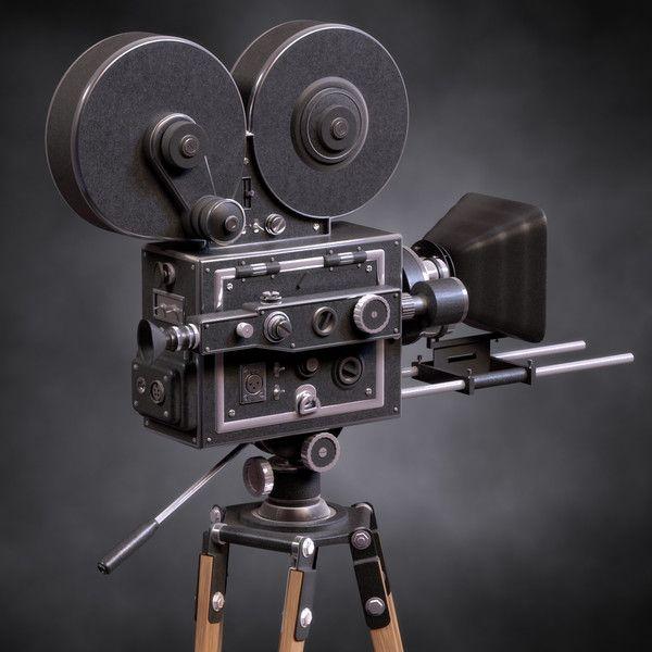 Vintage Film Movie Camera by xellow