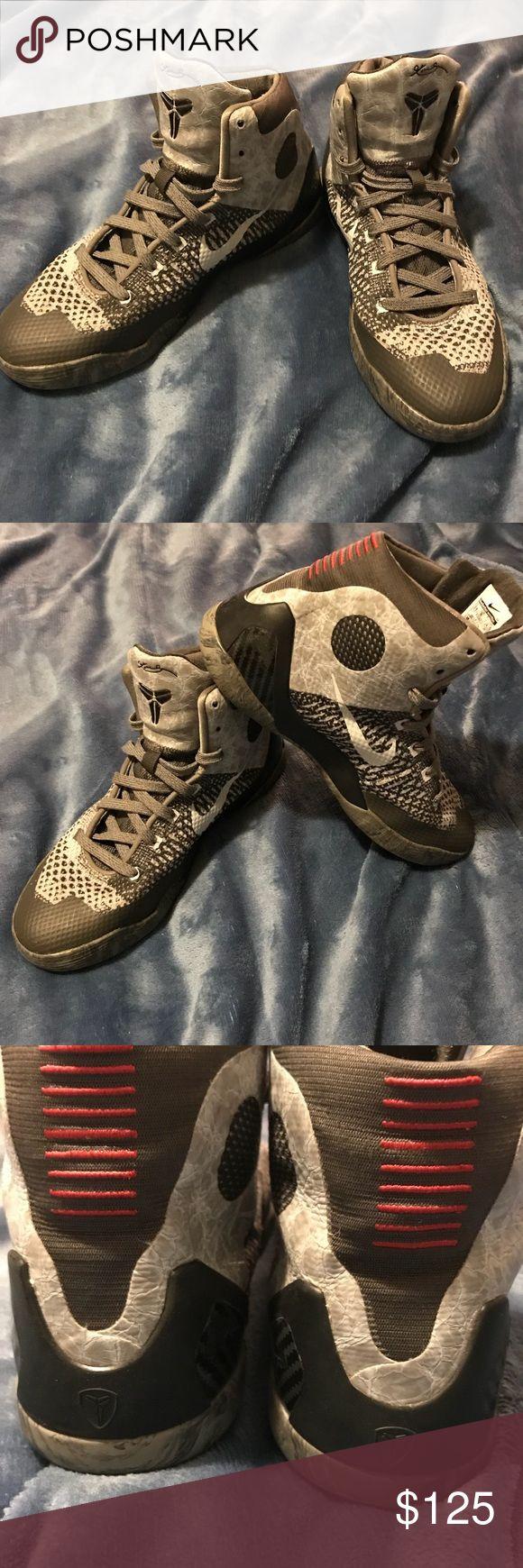 Kobe Bryant Elite 9s Kobe Bryant Elite 9s  Grey White Black Mid Rise Excellent Condition Like New Nike Shoes Athletic Shoes