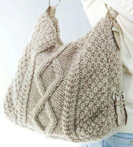 knit handbag