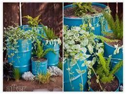 Afbeeldingsresultaat voor olievat plantenbak