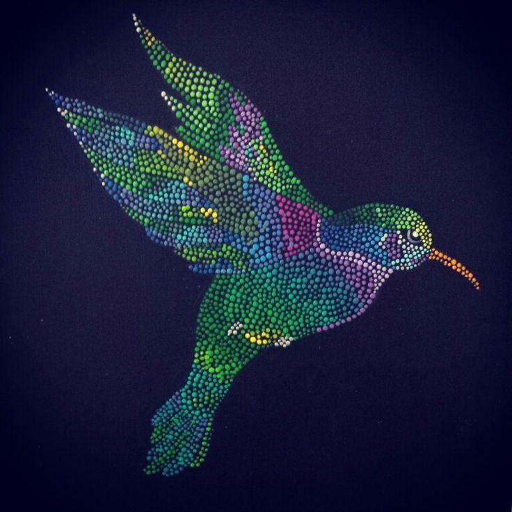 Colibri.. puntillismo                                                                                                                                                                                 Más