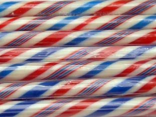 along those same lines, for the airmail feel? plus these are peppermint flavored.: Peppermint Flavored, Retirement Party'S, Candy Peppermint, Mail Carrier, Gilliam Sticks, Airmail Feelings, Photography Rebrand, Rebrand Ideas, Carrier Retirement