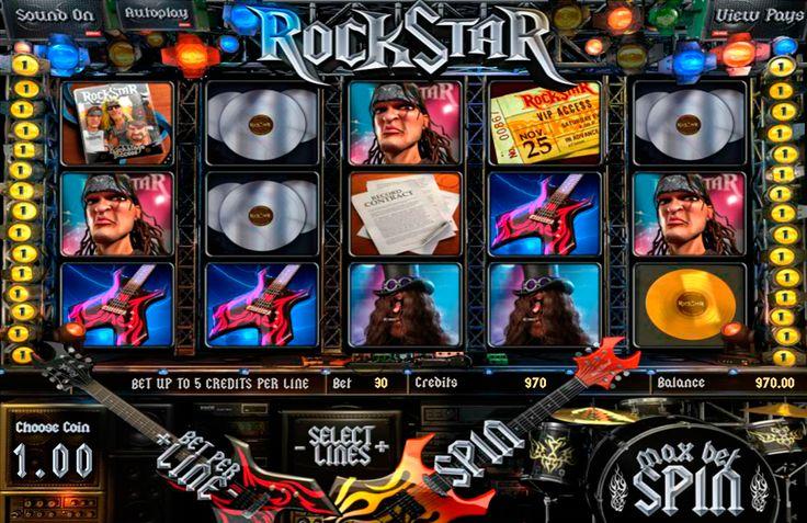 """""""Ben je klaar om te rocken?! Speel dan Rock Star van BetSoft! Verbazingwekkende rots thema graphics brengt u van uw stoel naar de rots prestaties van het decennium. Je ontmoet je idolen en luister naar de bekende nummers die we allemaal lieven vanaf de eerste akkoorden. Het spel ziet zeer authentiek uit, en de portretten van rocksterren toevoegen aan de algemene sfeer van koelte. Rock Star is een 5-reel,3-rijen, 30-winlijnen video slot van BetSoft met Bonus Spel,Scatter Symbool en Gratis…"""