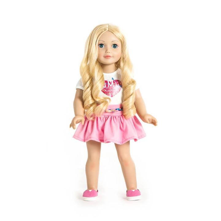 Miss Isabella ☀️ She has blonde hair, light skin and blue eyes. One of our twelve dolls. #missminime#missminimedoll#missminimedolls#missisabella#blnde#blueeyed#beautiful#qualitydoll#girl#musthave#doll