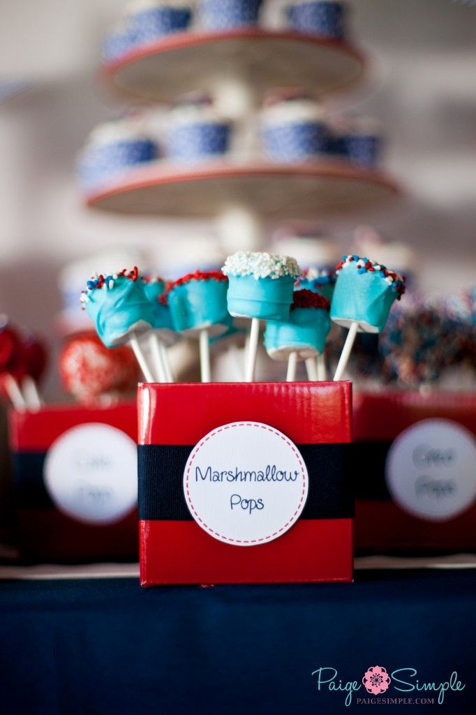 Nautical 1st Birthday Marshmallow Pops Marshmallows And