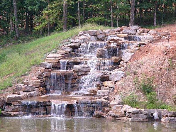 Marvelous Backyard Waterfall Feature Garden