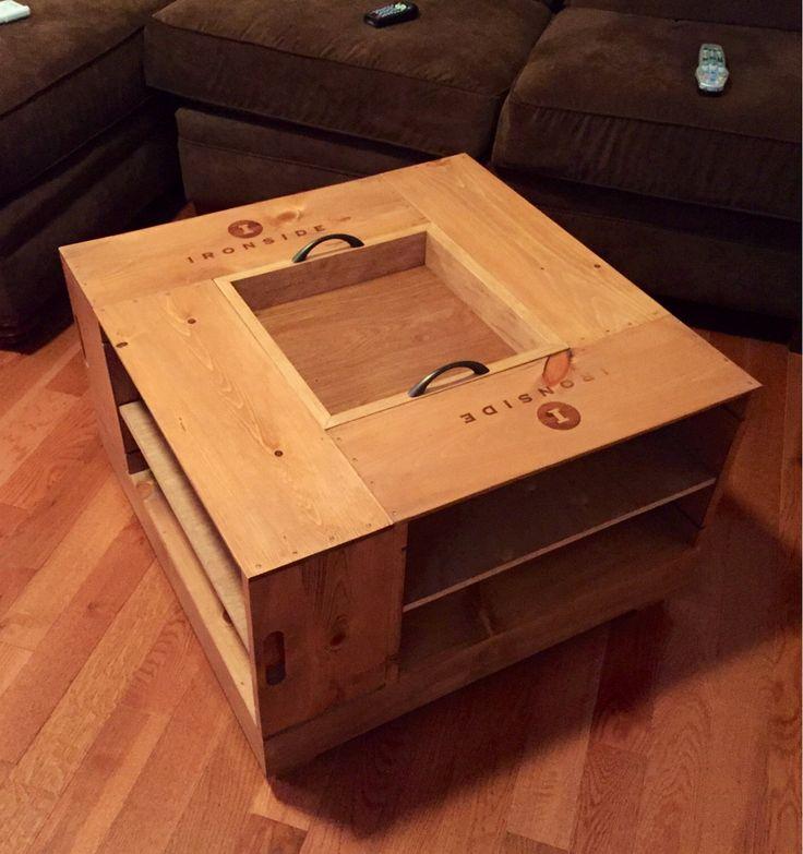 Wine Crate Coffee Table In 2019 Custom Furniture Wine