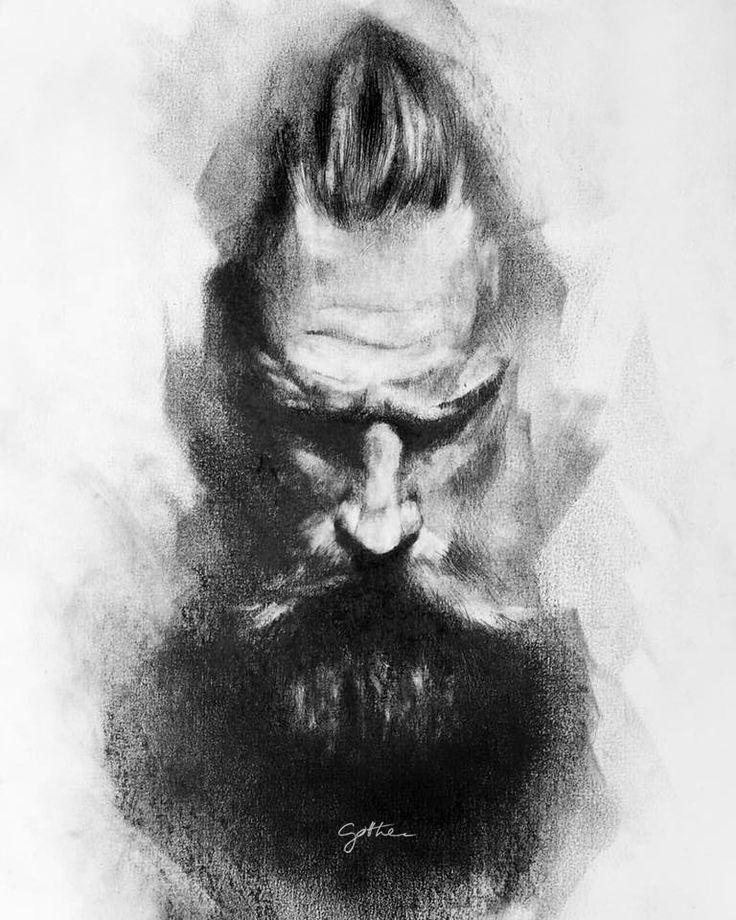 Beardorgasm_schetch_@gotthee # beard#love#pogonophile#art#pencil#drawing