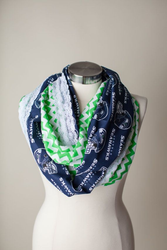 Seattle Seahawks NFL Infinity Scarf. I think i'll make this myself