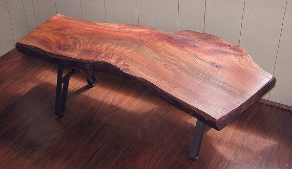RB Live Edge coffee table Eucalyptus wood with sturdy metal