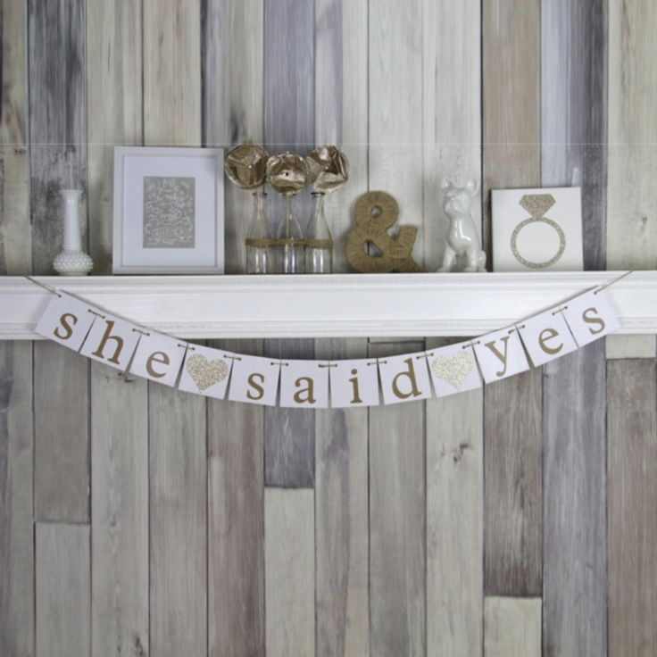 She Said Yes Banner See more here: https://www.etsy.com/listing/197780470/engagement-photo-prop-bridal-shower?ref=shop_home_active_17