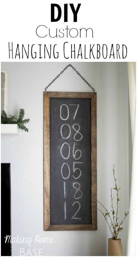 DIY Hanging Chalkboard with @Making Home Base {Chelsea Coulston}