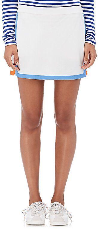 Tory Sport Women's Tech-Piqué Tennis Skirt-WHITE, LIGHT BLUE, ORANGE, Rock, Tennis Dress, Tennis Fashion Women trendy Tennis Outfits for her, Tennismode, sportliche Mode fürs Tennisspielen.