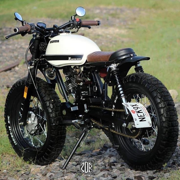 Whoha! Bike by zdr custom –  Honda 125 Fat Tire Scrambler  We support the tracker & scrambler  community and celebrate the builders.  DON'T…
