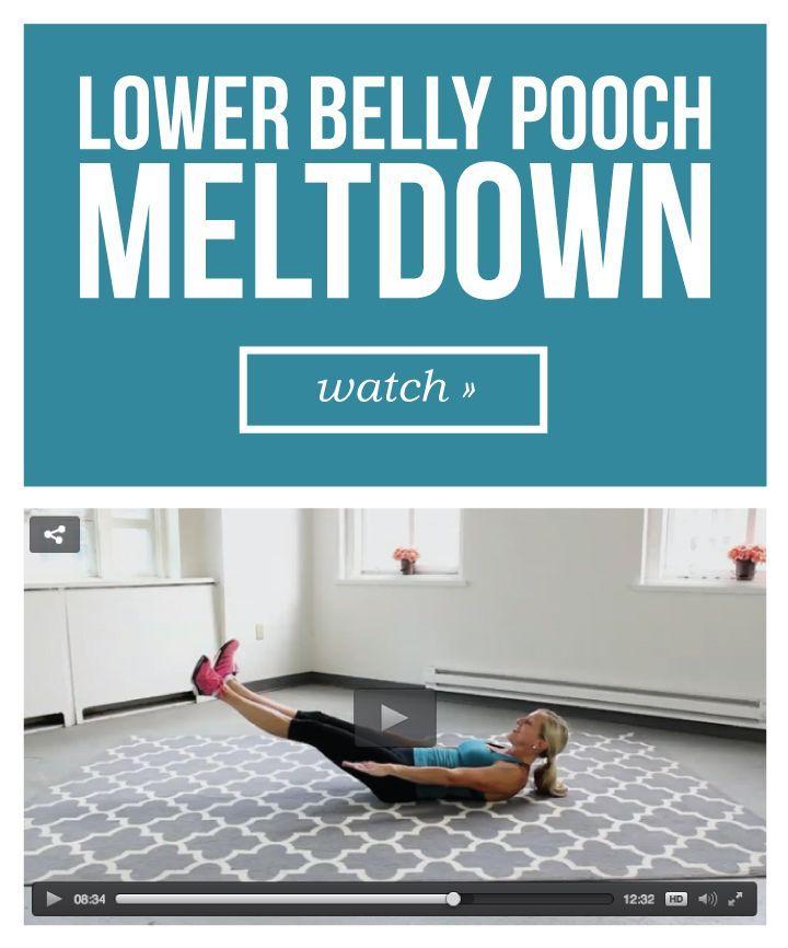 VIDEO: Lower Belly Pooch Meltdown Workout
