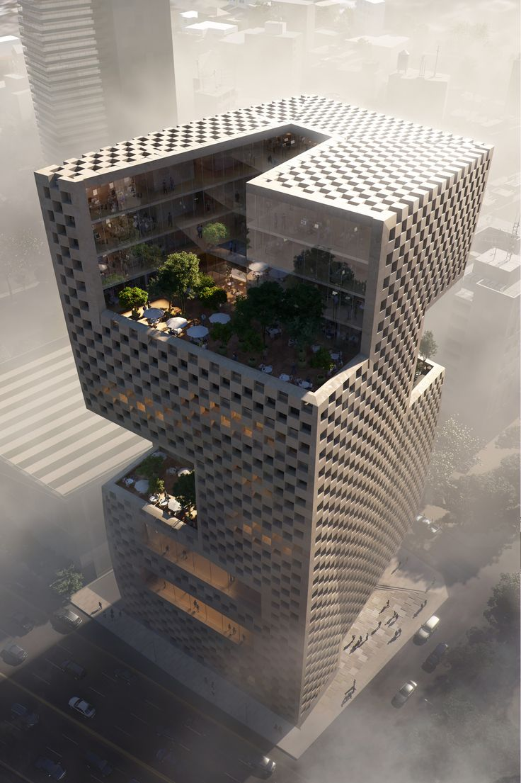 Image 1 of 6 from gallery of Snøhetta's Terraced, Geometric Tower Wins Competition for Bank Headquarters in Beirut. ©…