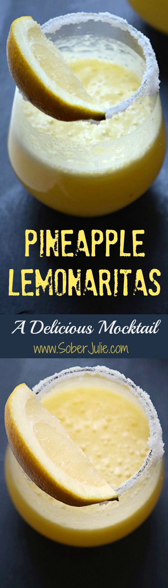 a lovely non-alcoholic drink recipe with pineapple and lemon