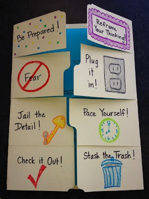 Ms. Sepp's Radiant Roadrunners, Counseling @ Lee Elementary: Testing Tips Foldable