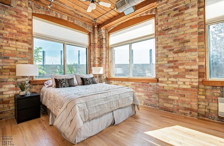 Noble Court Lofts-24 Noble St #110  | Rare large open concept authentic post, brick and beam 1 bedroom, + office with loads of exposed brick & original 10 ft high factory wood ceiling. Must see $55k + full custom designer renos including new kitchen, bath & bedroom. More info here: torontolofts.ca/noble-court-lofts-lofts-for-sale/24-noble-st-110
