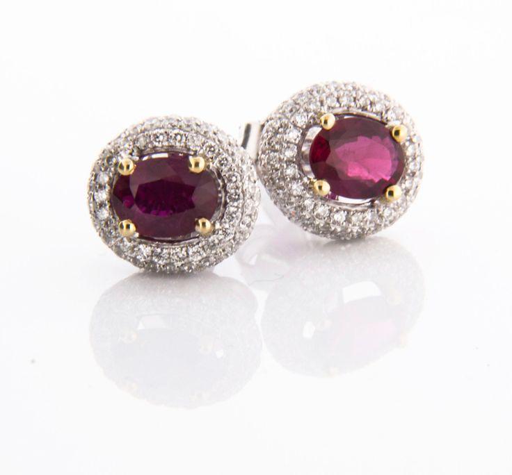 Ruby and Diamonds Earrings!  How divine! <3  #diamondsinternational #love #diamondearrings #style