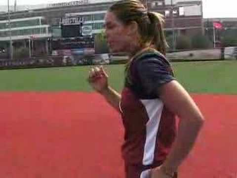 Jessica Mendoza Softball Training - RUN: Pumping Body - YouTube