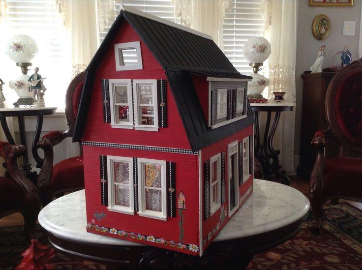 Mary Engelbreit Dollhouse with Furniture RARE Find Quality Set Engelbreit Style | eBay