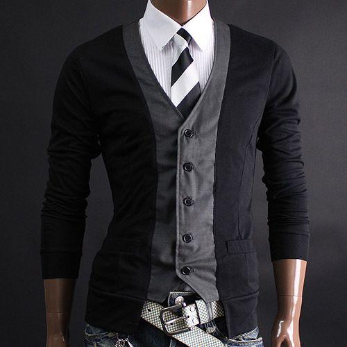 YOUSTARS Mens CardigansMen Looks, Men Clothing, Men Style, Stylish Clothing, Men Fashion, Men Cardigan, Slim Cardigans, Men Apparel, Men Casual