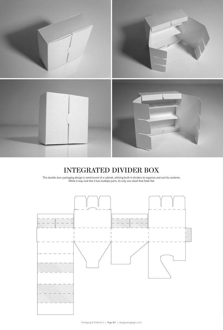 Integrated Divider Box – FREE resource for structural packaging design dielines